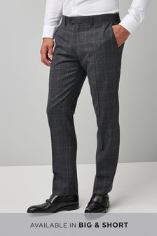 Tailored Fit Signature Check Suit: Trouser
