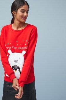 Pulover z božičnim motivom