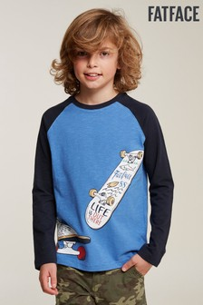 FatFace Blue Skate Board Graphic Tee