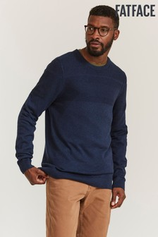 FatFace Blue Rye Cotton Cash Crew Jumper