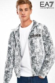 EA7 White Zip Through Jacket