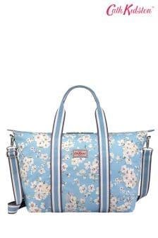 Cath Kidston® Blue Wellesley Blossom Foldaway Overnight Bag