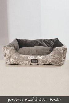 Personalised Crushed Velvet Pet Bed