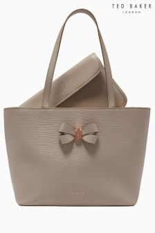 Ted Baker Bowmisa Taupe Bow Detail Shopper Bag