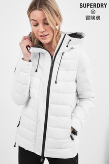 Superdry White Fuji Hooded Jacket
