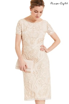 Phase Eight Cream Rosalie Tapework Dress