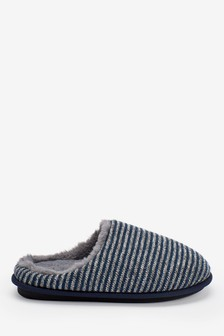 Stripe Mule Slippers