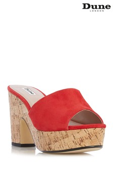 Dune London Red Suede Shoe
