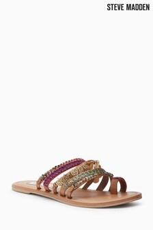 Steve Madden Tan Carmela Multi Jewel Strap Sandal