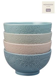 Set of 4 Denby Monsoon Gather Bowls
