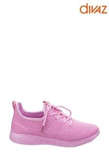 Divaz Pink Heidi Knit Shoes