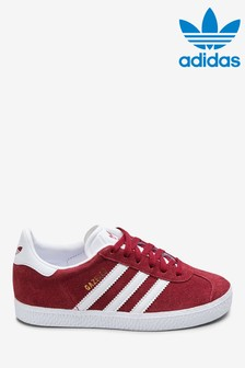 adidas Originals Burgundy Gazelle Junior Trainers