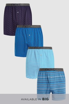 Boxershorts in lockerer Passform, 4er-Pack