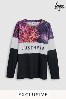 Hype. Purple Firework Long Sleeve Tee