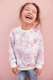 Unicorn Crew Neck Sweatshirt (3mths-6yrs)