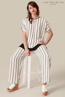 Live Unlimited Stripe Satin Trouser
