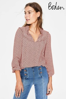 Boden Pink Betsy Blouse