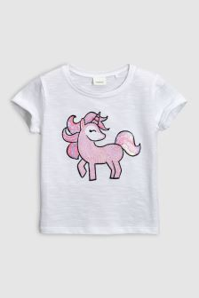 Unicorn Sequin Short Sleeve T-Shirt (3mths-6yrs)