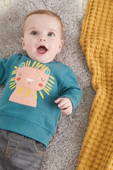 Lion Crew Neck Sweater (0mths-2yrs)