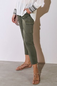 Cropped Cargo Trousers