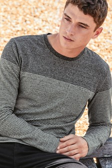 Marl Stripe Long Sleeve Crew