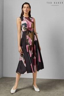 Ted Baker Khaki Swirl Dress