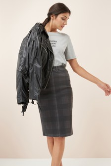 Jersey Denim Tube Skirt