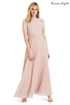Phase Eight Pink Elisabetta Lace Maxi Bridesmaid Dress