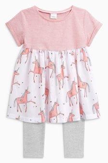 Unicorn Dress And Leggings Set (3mths-6yrs)