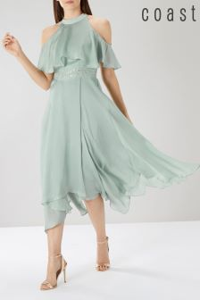 Coast Green Charley Trim Detail Dress