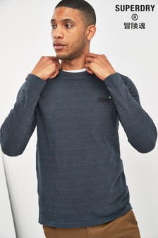 Superdry Navy Classic Long Sleeve T-Shirt