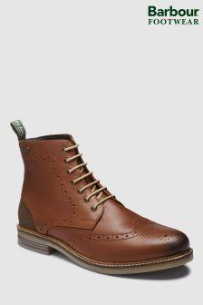 Barbour® Tan Belsay Brogue Derby Boot