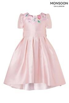 Monsoon Floral Print Hi-Low Dress