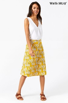 White Stuff Yellow Namibia Reversible Skirt