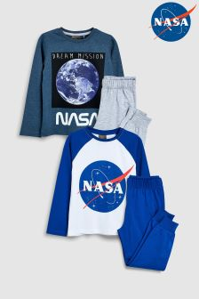 NASA™ Pyjamas Two Pack (3-12yrs)