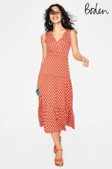 Boden Orange Nicole Jersey Dress