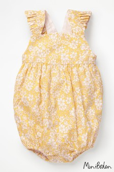 Boden Yellow Frilly Bubble Romper