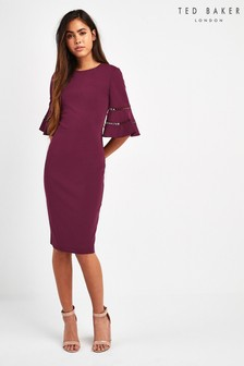Ted Baker Oxblood Bodycon Dress
