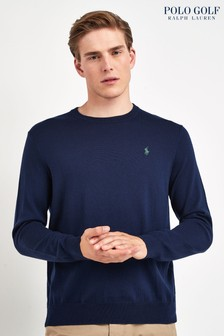 Ralph Lauren Polo Golf Navy Crew Jumper