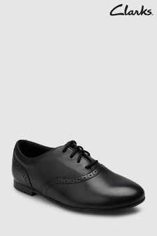 Clarks Black Leather Jules Walk Lace-Up Shoe