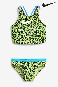 Nike Yellow Animal Print Bikini