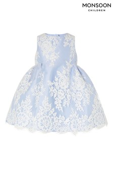 Monsoon Blue Baby Lace Dress