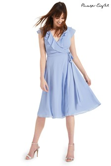 Phase Eight Blue Allegra Wrap Bridesmaid Dress