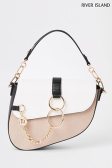 River Island Tan Saddle Bag