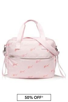 Kenzo Kids Baby Girls Pink Changing Bag