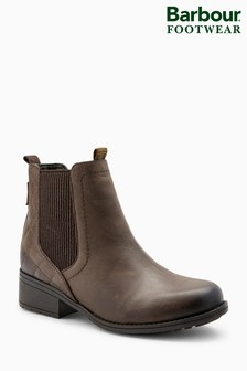 Barbour® Dark Brown Rimini Gusset Ankle Boot