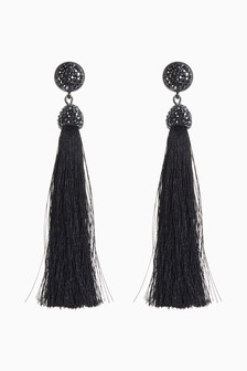 Crystal Effect Tassel Earrings