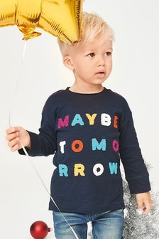 Long Sleeve Maybe Tomorrow T-Shirt (3mths-6yrs)