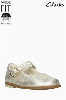 Clarks Gold Metallic Mary Jane First Shoes