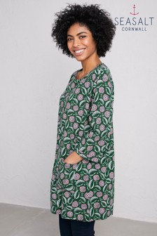 Seasalt Green Gallery Opening Tunic Stencil Bloom Sycamore